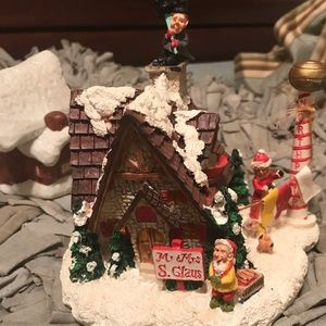 3-PIECE HOLIDAY MINIATURE VILLAGE SET >>SO CUTE
